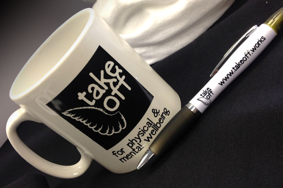 Take Off promotional items