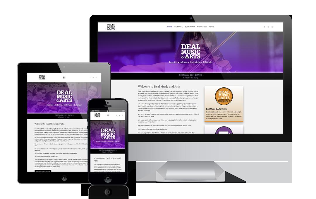 dealmusicandarts.com by Mickle Creative Solutions