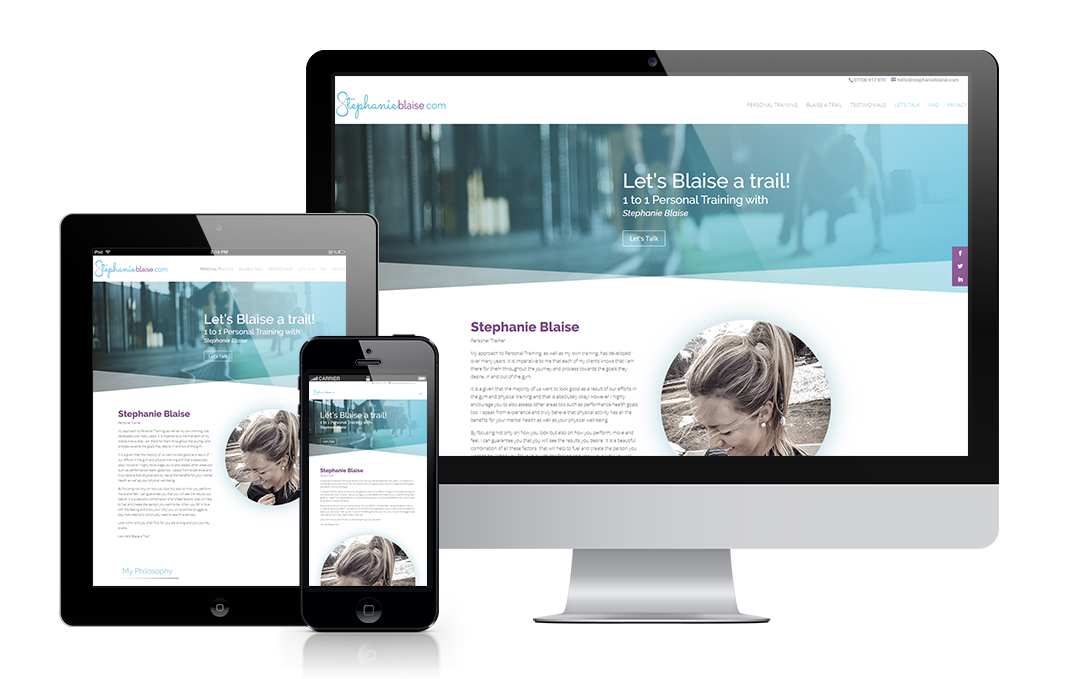 stephanieblaise.com designed by Mickle Creative Solutions