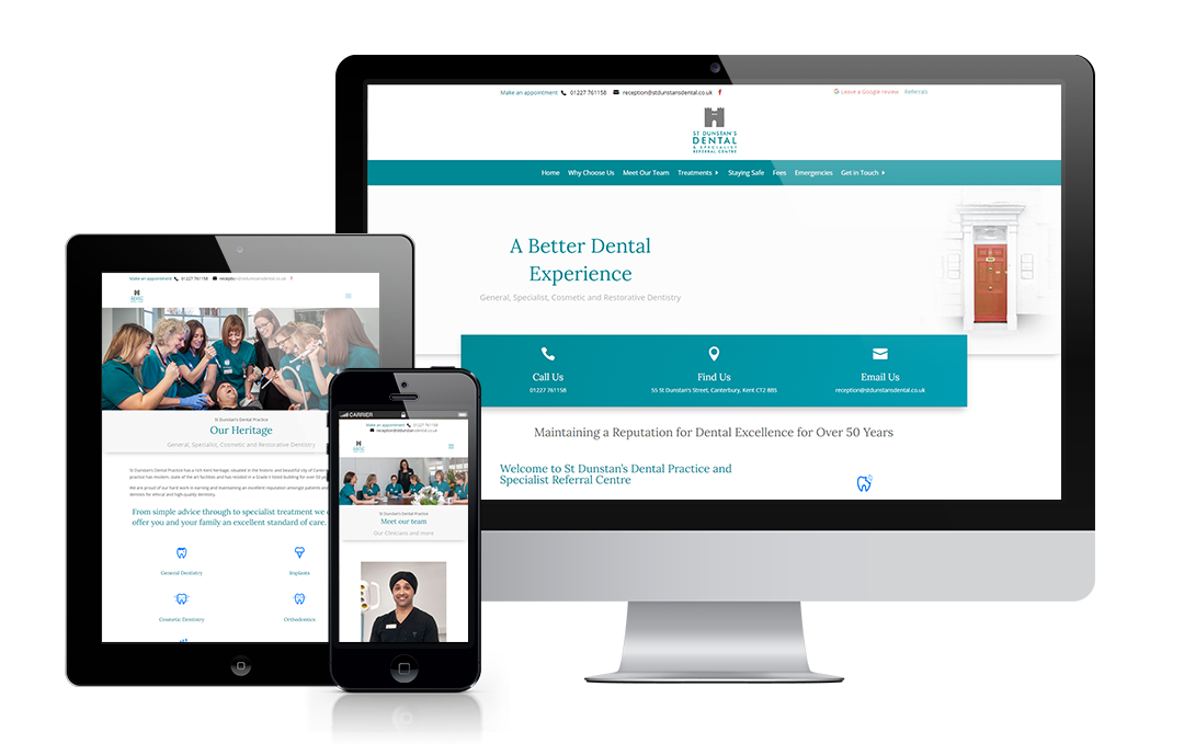 stdunstansdental.co.uk designed by Mickle Creative Solutions