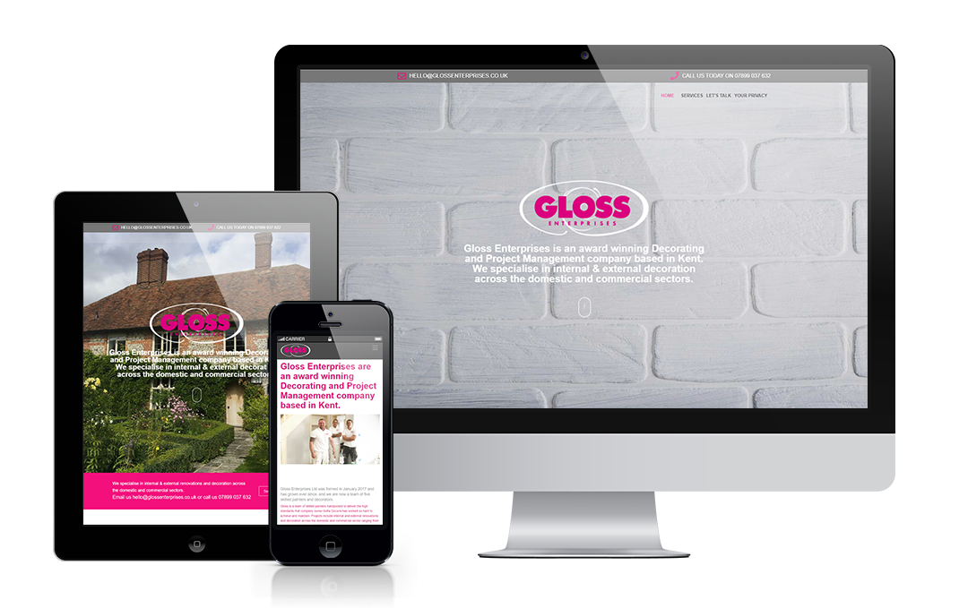 glossenterprises.co.uk designed by Mickle Creative Solutions