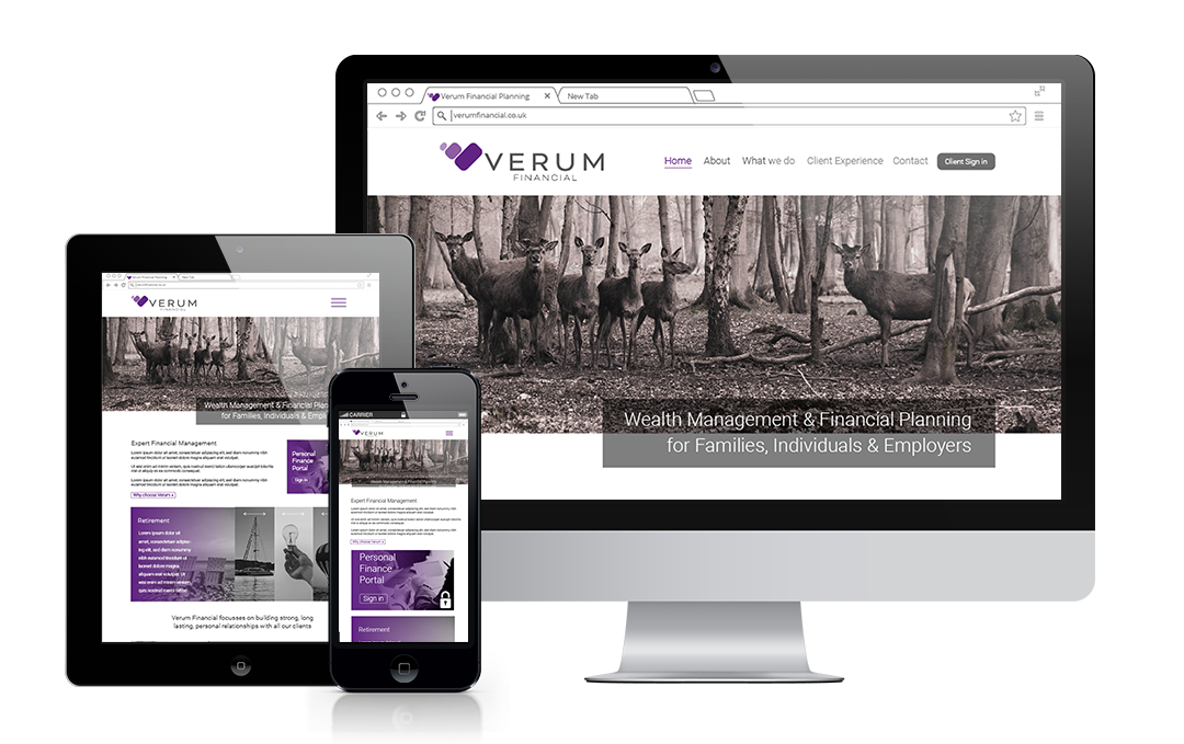 Verum Financial designed by Mickle Creative Solutions