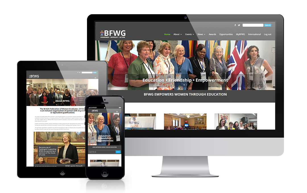 BFWG website designed by Mickle Creative Solutions
