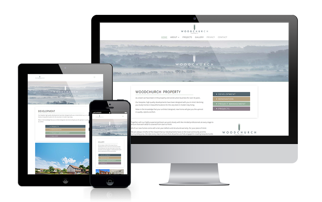 Woodchurch Property website designed by Mickle Creative Solutions