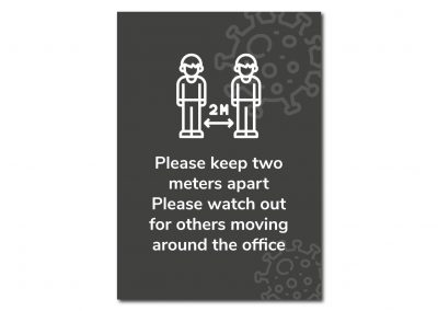Social Distancing signage from Mickle Creative Solutions