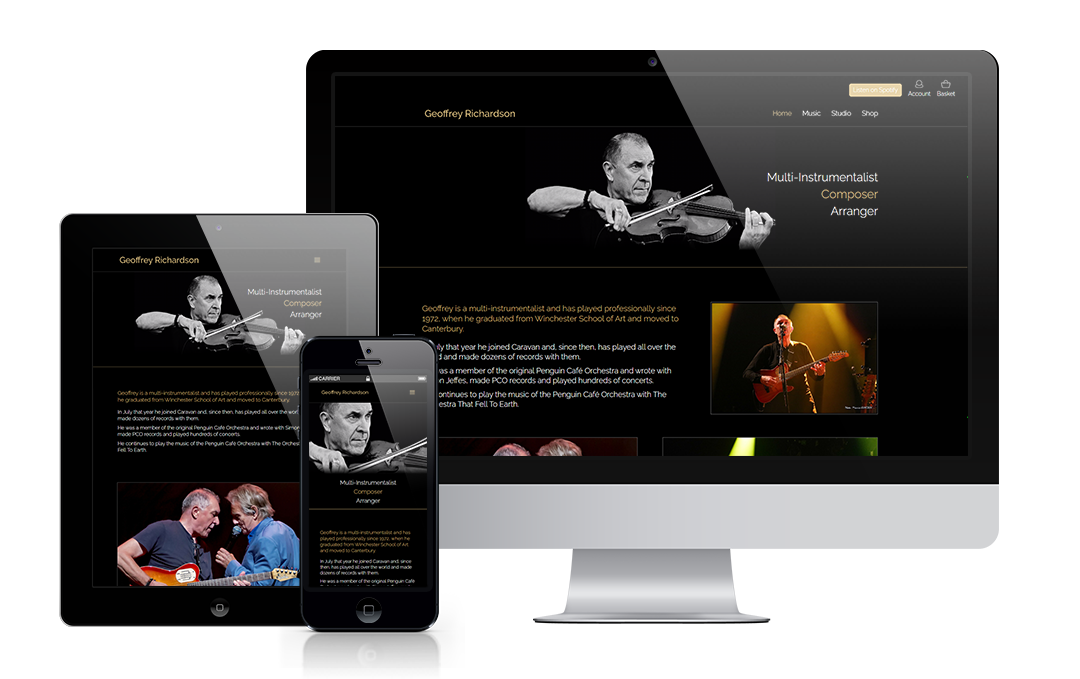 geoffreyrichardson.com by Mickle Creative Solutions